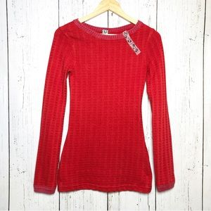 We the Free Red Textured Long sleeve shirt